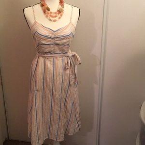 Stripe Linen Summer Dress